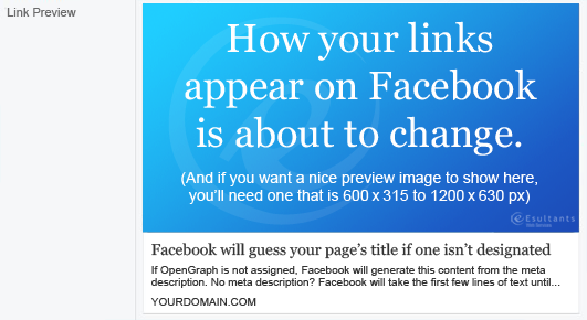 facebook link preview